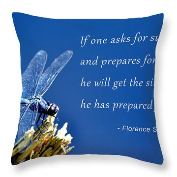 Throw Pillow featuring the photograph Prepare For Success by Beth Sawickie
