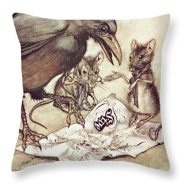 Preposterous Cried Solomon In A Rage From Peter Pan In Kensington Gardens Throw Pillow