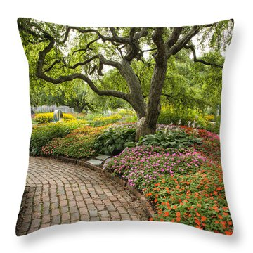 Prescott Park - Portsmouth New Hampshire Throw Pillow