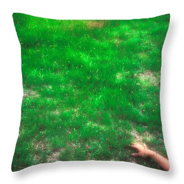 Presence In The Field Throw Pillow