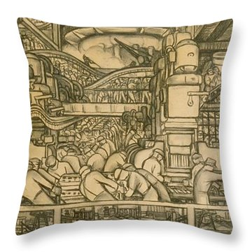 Industrial Design Drawings Throw Pillows