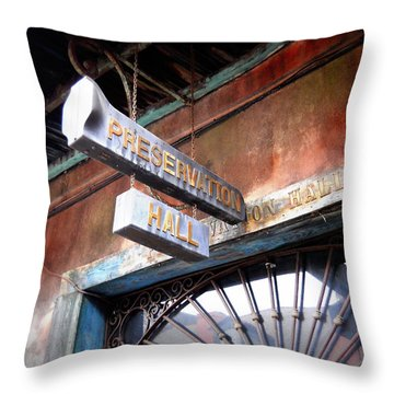 Preservation Hall Throw Pillow by Beth Vincent