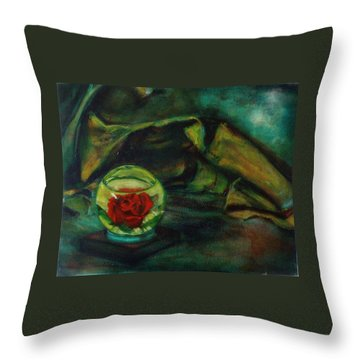 Preserved Rose . . Draped Canvas Throw Pillow