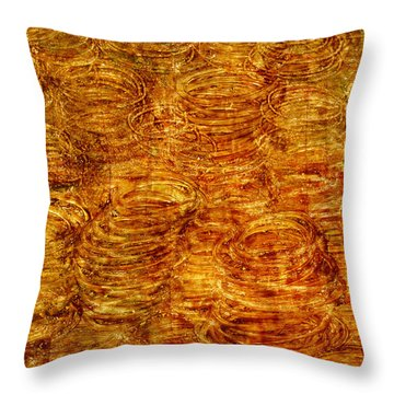 Throw Pillow featuring the mixed media Preserved by Sami Tiainen