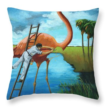 Preserving Wildlife Throw Pillow by Linda Apple