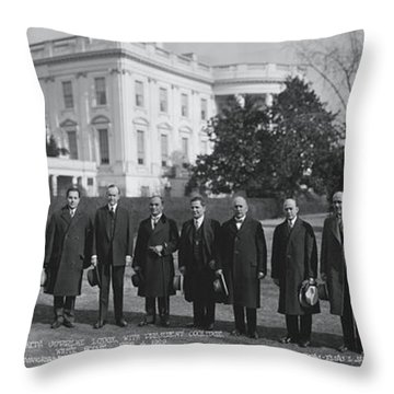 President Coolidge White House Throw Pillow