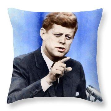 President John Kennedy Throw Pillow
