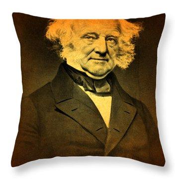 President Martin Van Buren Portrait And Signature Throw Pillow by Design Turnpike