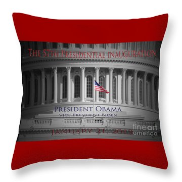 President Obama Inauguration Throw Pillow by Jost Houk