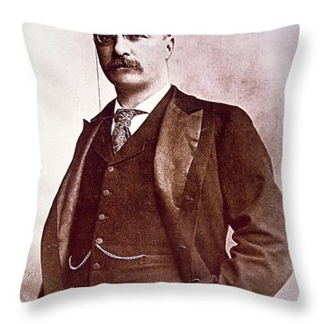 President Theodore Roosevelt Throw Pillow by American School