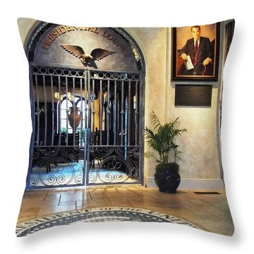 Presidential Lounge - The Mission Inn Hotel Throw Pillow