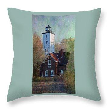 Presque Isle Lighthouse Throw Pillow