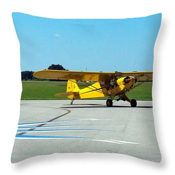 Preston Aviation Piper Cub  Throw Pillow