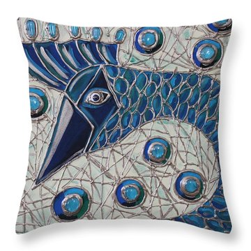 Pretty As A Peacock 2 Throw Pillow