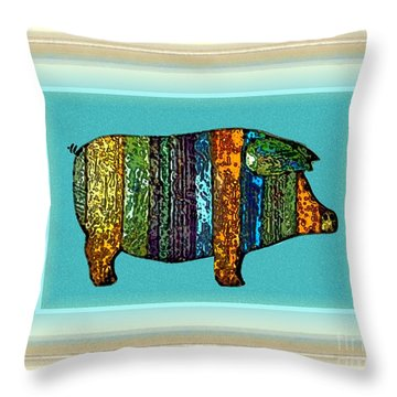 Pretty As A Pig-ture Throw Pillow