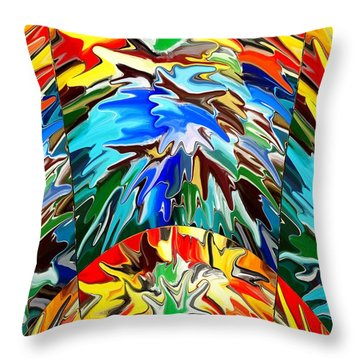 Pretty Awesome Throw Pillow by Chris Butler