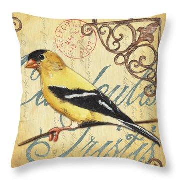 Pretty Bird 3 Throw Pillow by Debbie DeWitt