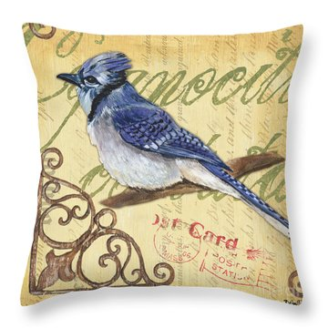 Bluejay Throw Pillows