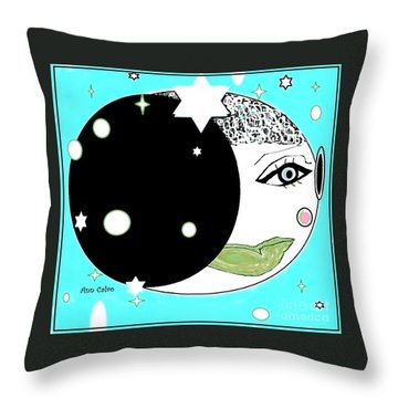 Pretty Cheeky Throw Pillow by Ann Calvo