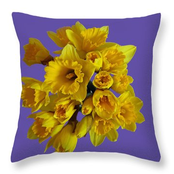 Pretty Daffodils Throw Pillow