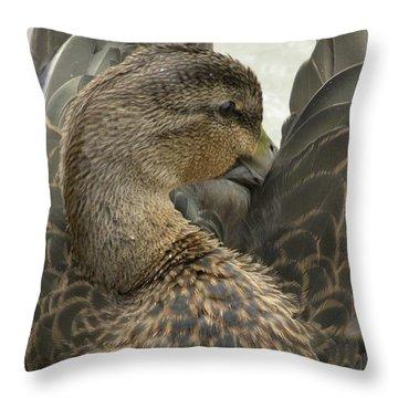 Pretty Duck Throw Pillow