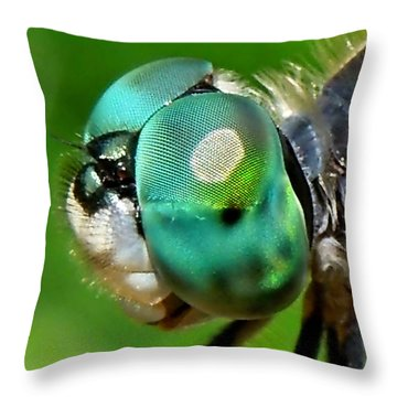 Pretty Eyes Throw Pillow by Renee Trenholm