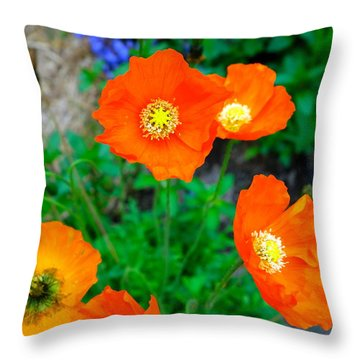Pretty In Orange Throw Pillow