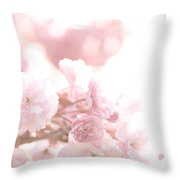 Pretty In Pink - The Confetti Throw Pillow by Lisa Parrish