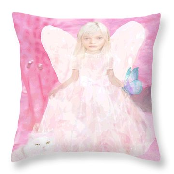 Pretty In Pink Throw Pillow by Amelia Carrie