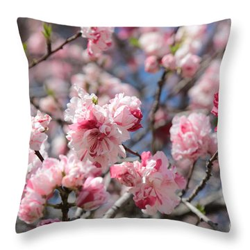 Pretty In Pink Throw Pillow by Carol Groenen