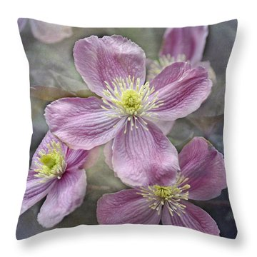 Pretty In Pink Throw Pillow by Geraldine Alexander