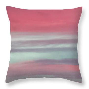 Pretty In Pink Sunrise Throw Pillow