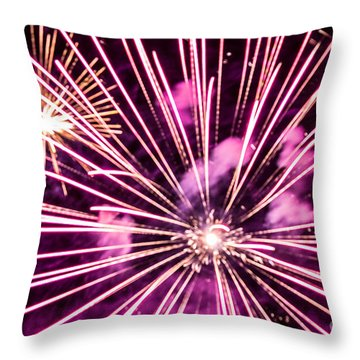Throw Pillow featuring the photograph Pretty In Pink by Suzanne Luft