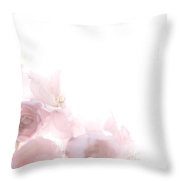 Pretty In Pink - The Dancer Throw Pillow by Lisa Parrish