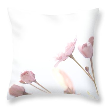 Pretty In Pink - The Dreamer Throw Pillow by Lisa Parrish