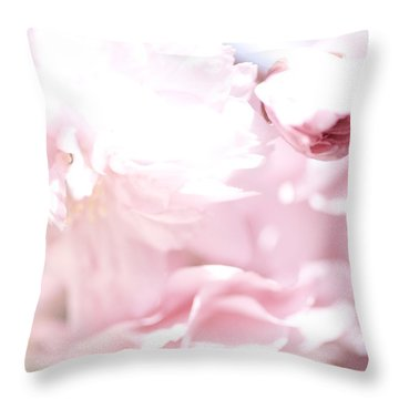 Pretty In Pink - The Sweet One Throw Pillow by Lisa Parrish