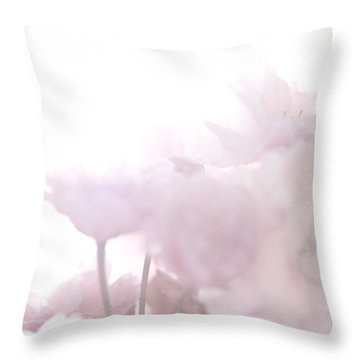 Pretty In Pink - The Whisper Throw Pillow by Lisa Parrish