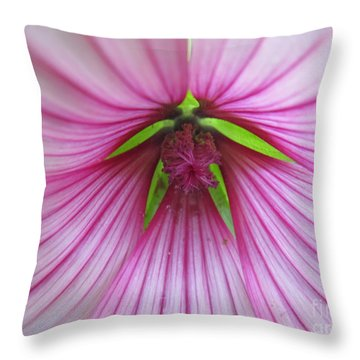 Throw Pillow featuring the photograph Pretty In Pink by Tina M Wenger
