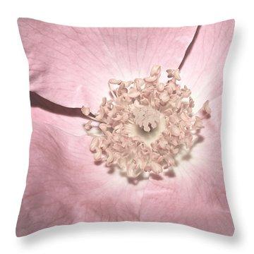 Pretty In Pink...heirloom Throw Pillow by Tammy Schneider