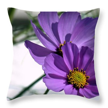 Throw Pillow featuring the photograph Pretty In Purple by Janice Drew