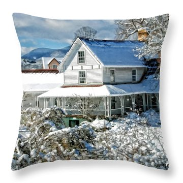 Pretty In White Throw Pillow by Kenny Francis