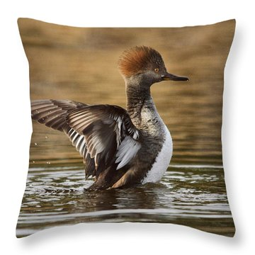 Pretty Little Redhead Throw Pillow by Susan Capuano