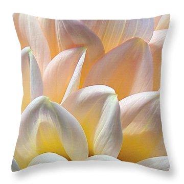 Pretty Pastel Petal Patterns Throw Pillow by Kaye Menner