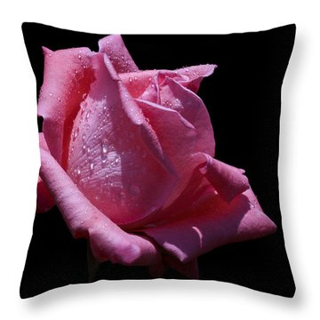 Throw Pillow featuring the photograph Pretty Pink by Doug Norkum