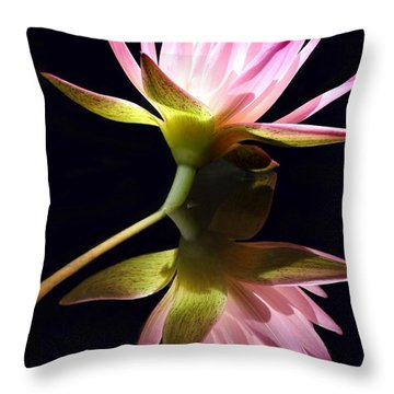 Pretty Pink Reflections Throw Pillow by Sabrina L Ryan