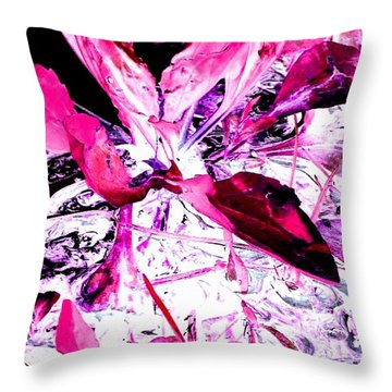 Throw Pillow featuring the photograph Pretty Pink Weeds 5 by Marianne Dow