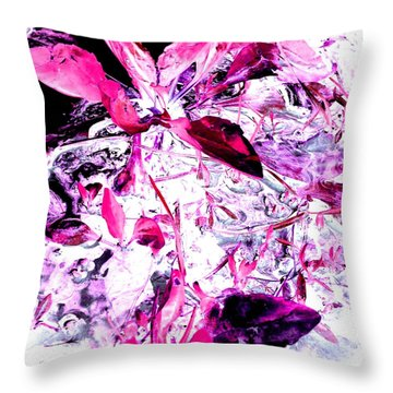 Throw Pillow featuring the photograph Pretty Pink Weeds 6 by Marianne Dow