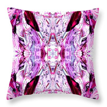 Pretty Pink Weeds Abstract  2 Throw Pillow
