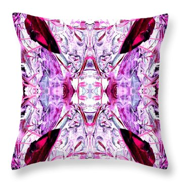Pretty Pink Weeds Abstract  4 Throw Pillow