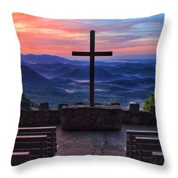 Pretty Place Chapel Sunrise Throw Pillow